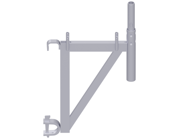 ALFIX MODUL METRIC Konsole aus Stahl mit Rohrriegel-Einhängung, vz