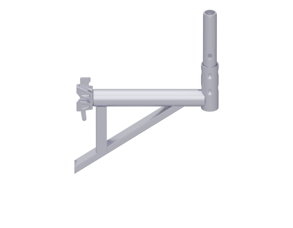 ALFIX MODUL MULTI bracket with tube fixture, steel, galvanised