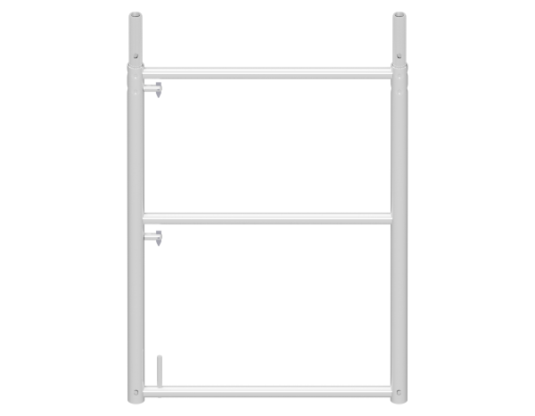 UNIFIX end guardrail frame 1.00 x 0.74 m, aluminium
