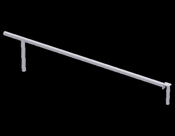 Aufsteckgeländer aus Stahl 2,50 m, vz