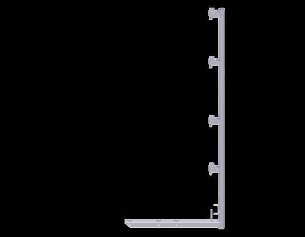 ALFIX Schutznetzstütze aus Stahl 2,00 x 0,36/0,50/0,73 m, vz