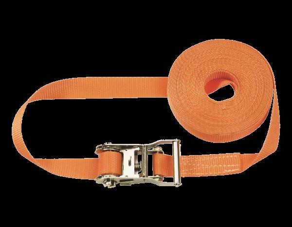Lashing strap with ratchet 6.00 m, 1-piece