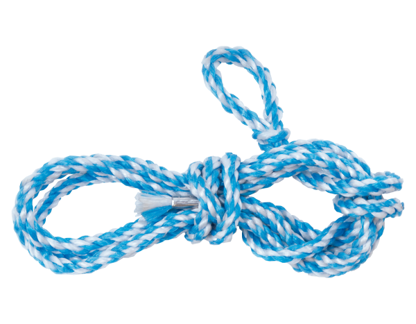 Scaffold rope, plastic, white-blue