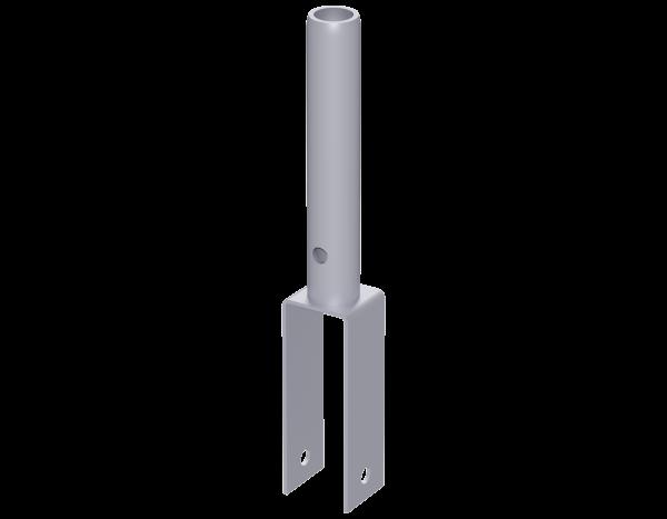 Aufsatzstück für Gitterträger aus Stahl 0,30 m, vz