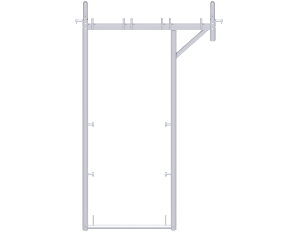 UNIFIX roof guard extension frame 2.00 x 0.74 - 1.10 m, steel, galvanised
