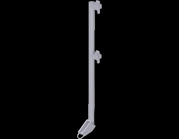 ALBLITZ Treppen-Geländerpfosten aus Stahl 1,10 m, vz