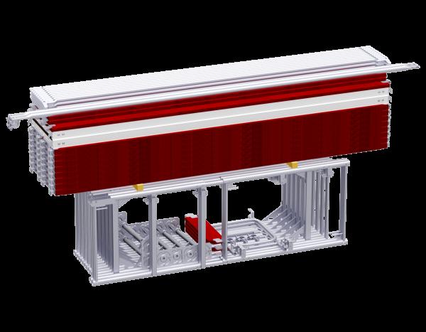 ALFIX Fassadengerüst aus Stahl/Holz 3,07 m, ca. 100 m²