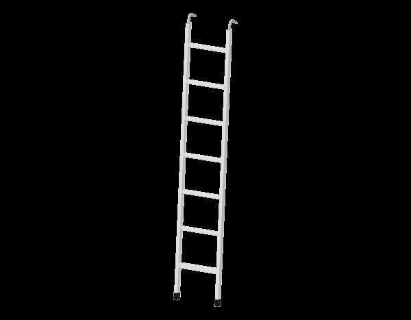 Storey ladder 2.00 x 0.40 m, aluminium