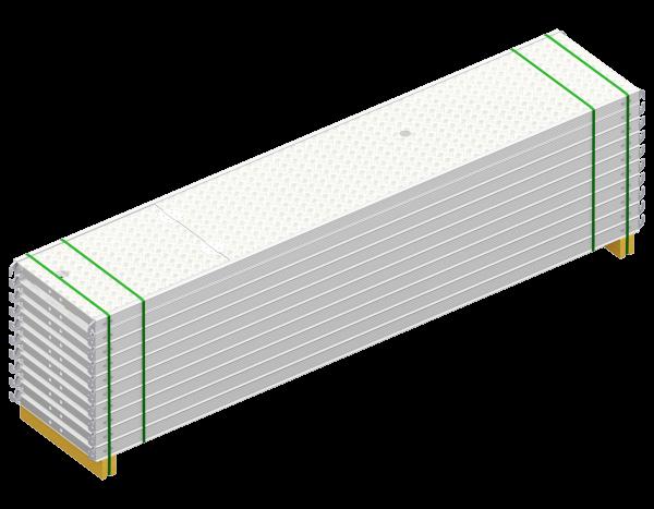Paket ALFIX Durchstieg aus Aluminium 3,07 x 0,60 m, mit Leiter, Belag WBQ, 10 Stück