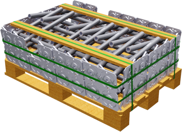 Paket ALBLITZ Gewindefußplatte 0,40 m, VPE 50 Stk