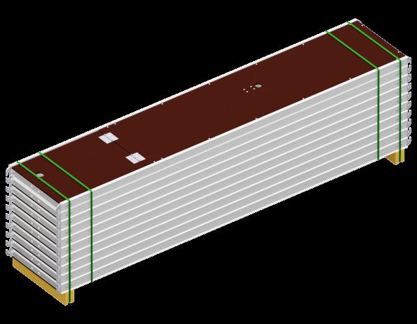 Paket ALFIX Durchstieg aus Aluminium 3,07 x 0,60 m, mit Leiter, Belag SDP, 10 Stück