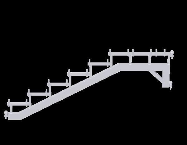 ALFIX MODUL METRIC Treppenwange aus Stahl mit Keilköpfen, vz