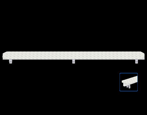 ALFIX MODUL METRIC Spaltabdeckung aus Aluminium-Warzenblech