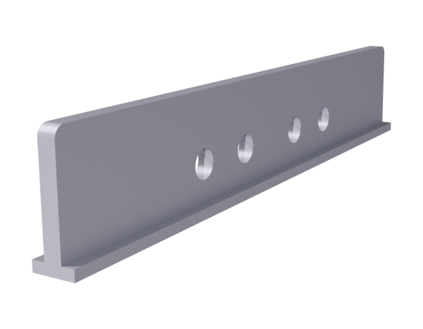 Keder rail longitudinal connector 300 x 50 mm, steel, galvanised, incl. 4 bolts M12 x 50 mm and 4 nuts M12