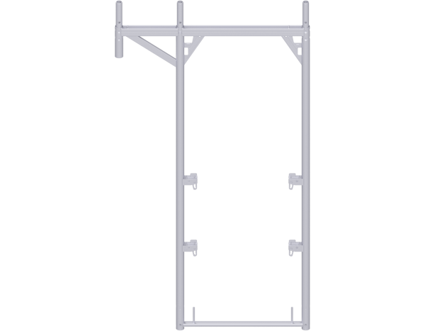 ALFIX roof guard extension frame 2.00 x 0.73 m - 1.09 m, steel, galvanised, lightweight