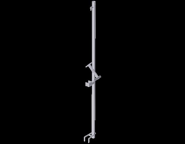 ALFIX Voreilende Geländerstütze aus Stahl 2,00 m, vz