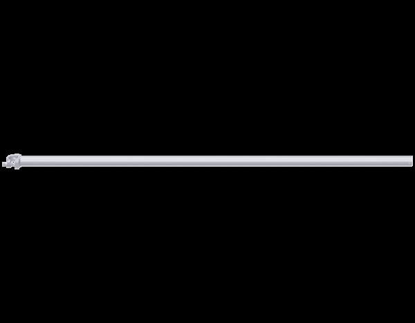 Grundrohr aus Stahl 2,00 m, vz mit angeschweißter Halbkupplung SW 19
