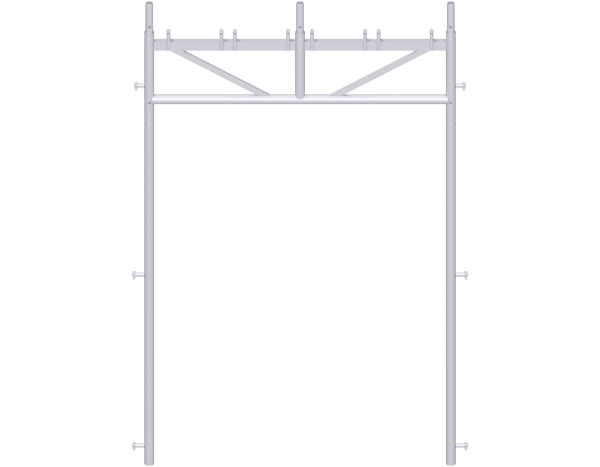 UNIFIX passage frame 2.00 m, steel, 3-part, galvanised