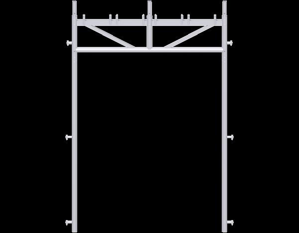 UNIFIX Durchgangsrahmen aus Stahl 2,00 m, 3-teilig, vz
