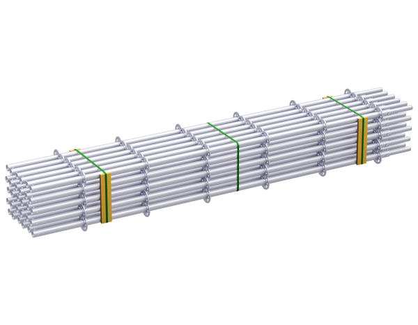 ALFIX MODUL standard 3.00 m, with pressed-in tube connector, galvanised