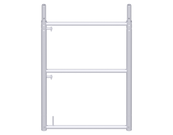 UNIFIX end guardrail frame 1.00 m, steel, galvanised, with tube connector