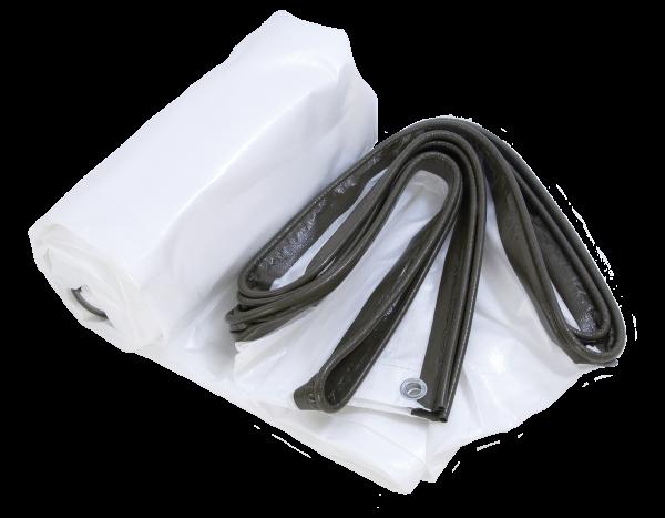 Keder tarpaulin woven fabric 240g/m², white