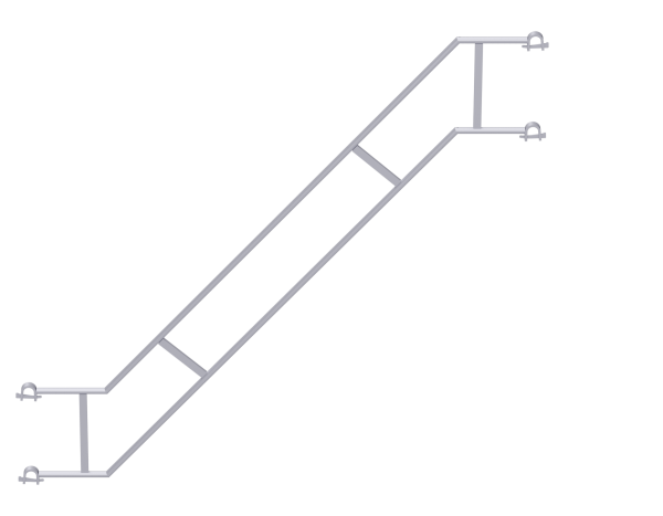 ALBLITZ Treppengeländer doppelt aus Stahl mit Hespenkupplung, vz