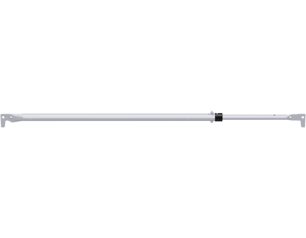 ALFIX telescopic guardrail, steel, galvanised
