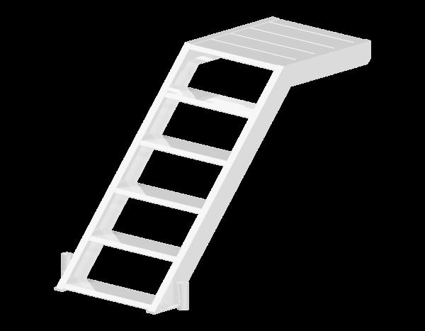 ALBLITZ Anfangstreppe aus Aluminium 1,40 x 1,00 m