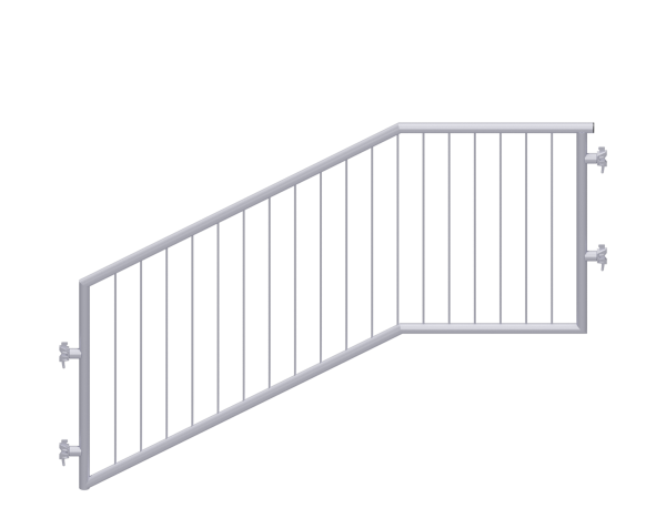 ALFIX MODUL METRIC stair guardrail with child protection, steel, galvanised
