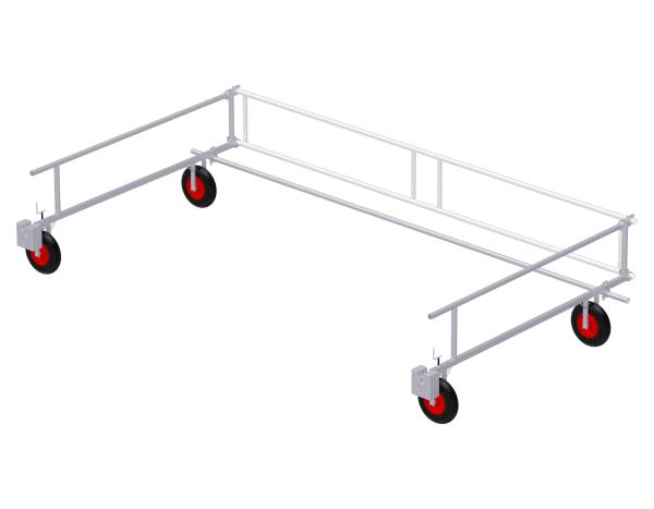 Flachdachseitenschutz - MOBIL Set 4,50 x 2,50 m