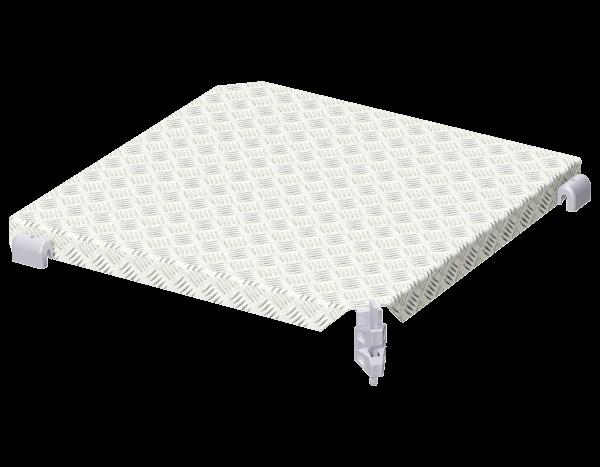 ALFIX MODUL MULTI corner deck 0.73 x 0.73, steel, galvanised