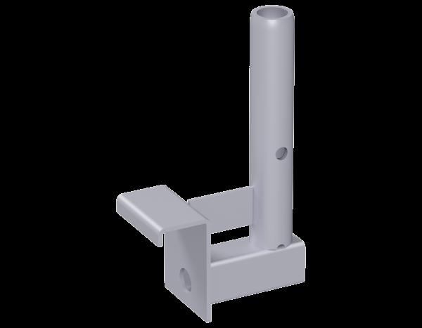 Geländerhalter aus Stahl 0,25 m für Aluminium-Steg, vz