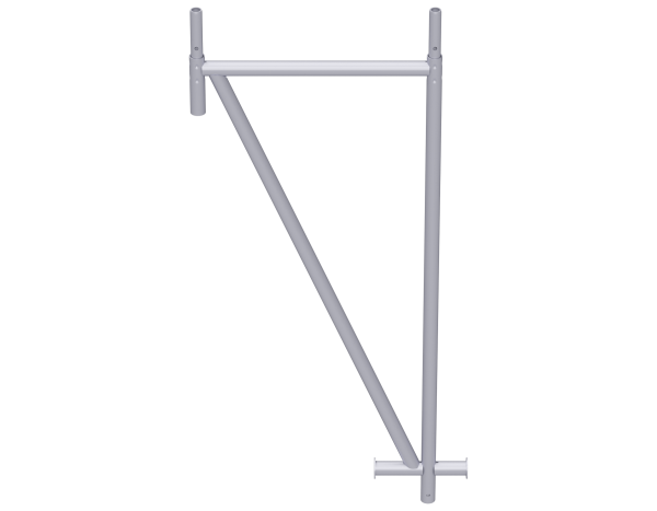 VARIO triangular support for mobile scaffolding hall, steel, galvanised