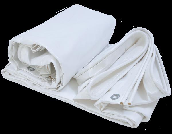 Keder tarpaulin PVC 590 g/m², white