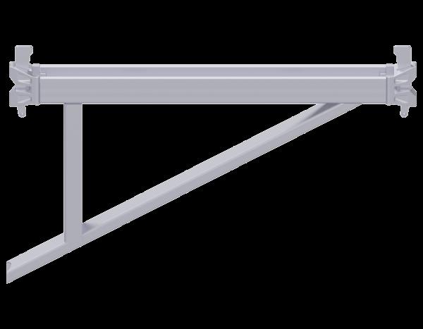 ALFIX MODUL MULTI Konsole aus Stahl 0,73 m, mit 2 Keilköpfen, vz