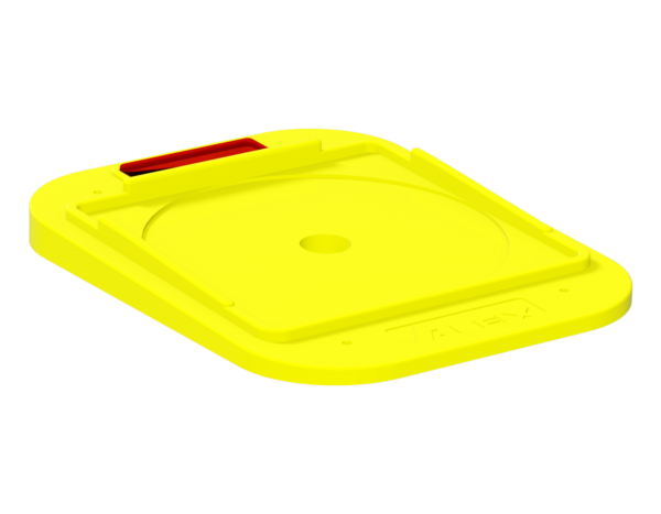 Protective base for base jack, polypropylene, angular, 250 x 190 x 30 mm, yellow