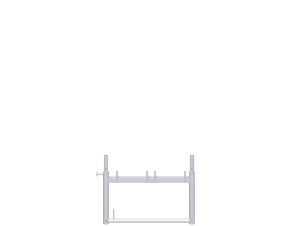 UNIFIX assembly frame with tilting pins on one side 0.74 m, steel, lightweight, galvanised