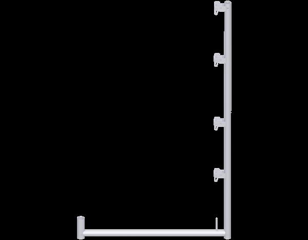 ALFIX Schutznetzstütze aus Stahl 2,00 m, vz