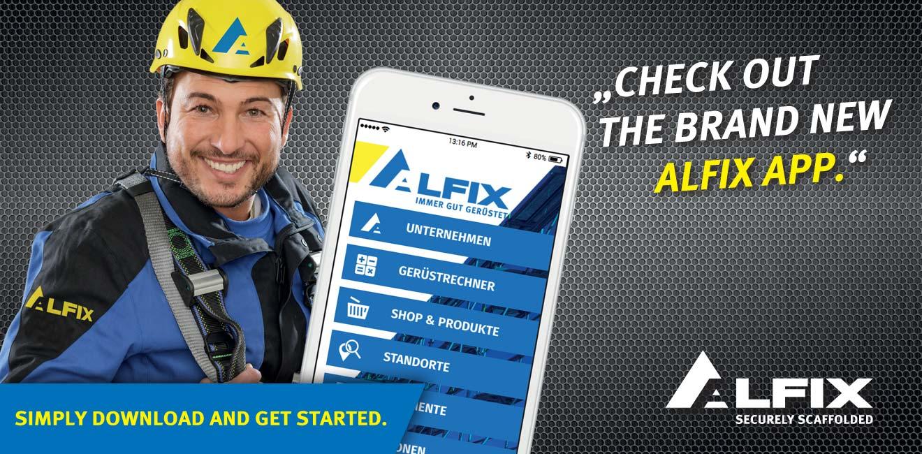 Flyer scaffolding calculator by Alfix