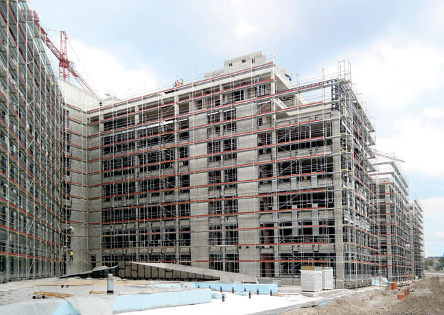 ALFIX-Fassadengerüst bewährt sich bei Großprojekt in der Slowakei