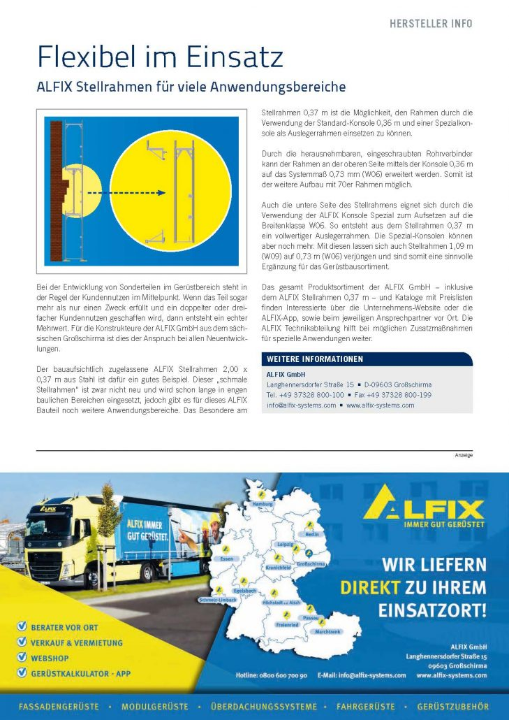 ALFIX Stellrahmen für viele Anwendungsbereiche