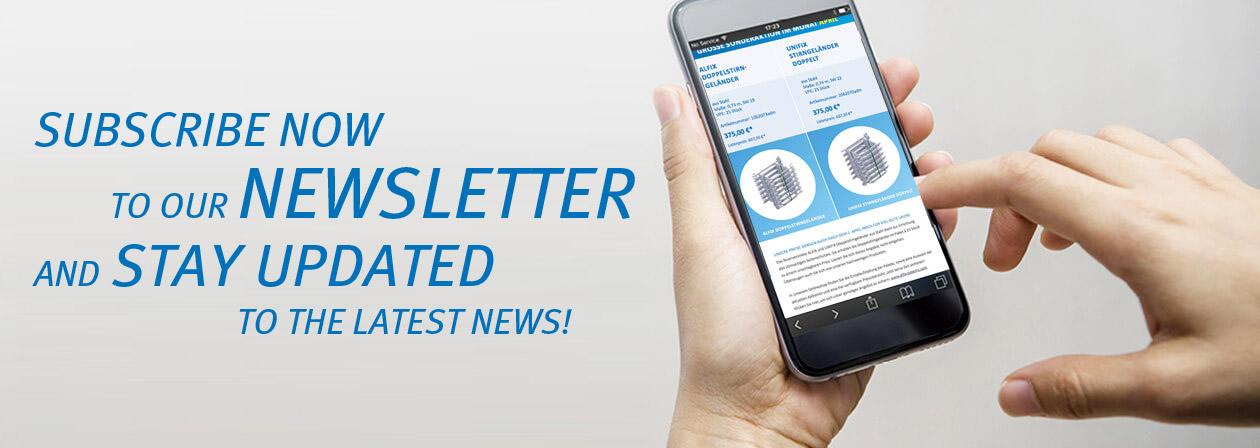 Newsletter Anmeldung ALFIX