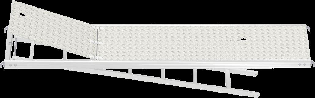 Vollalu-Innendurchstieg für das Gerüst