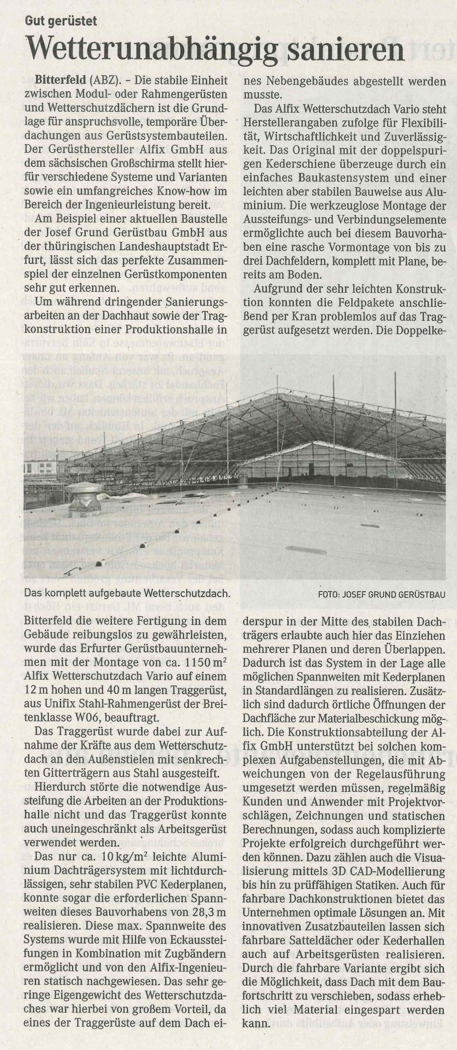 Zeitungsartikel_Dachsanierung-Bitterfeld
