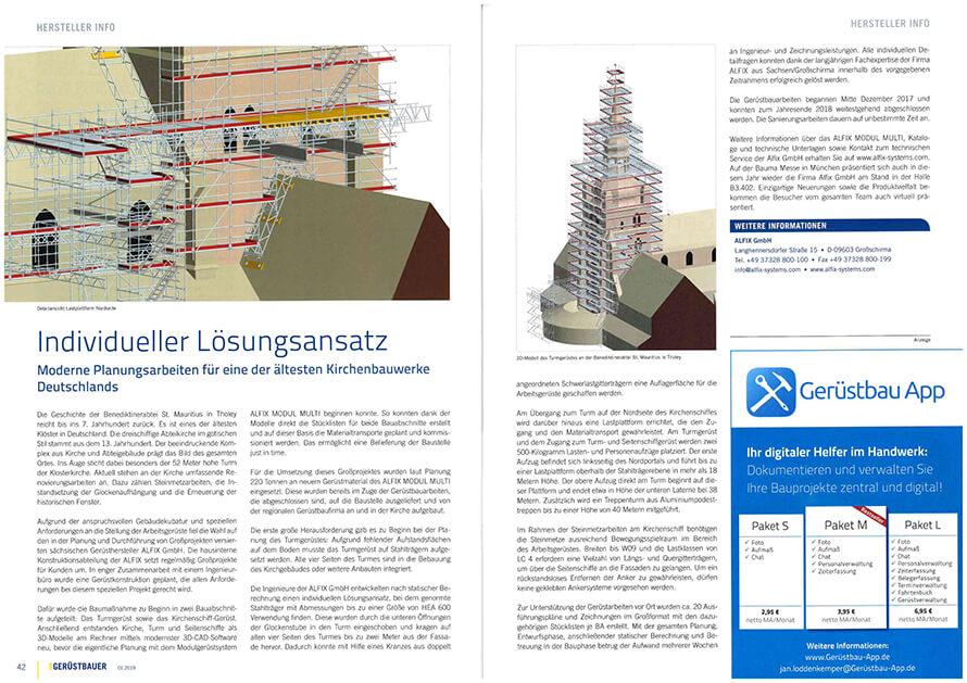 ALFIX Kirchenprojekt Tholey_Zeitungsartikel