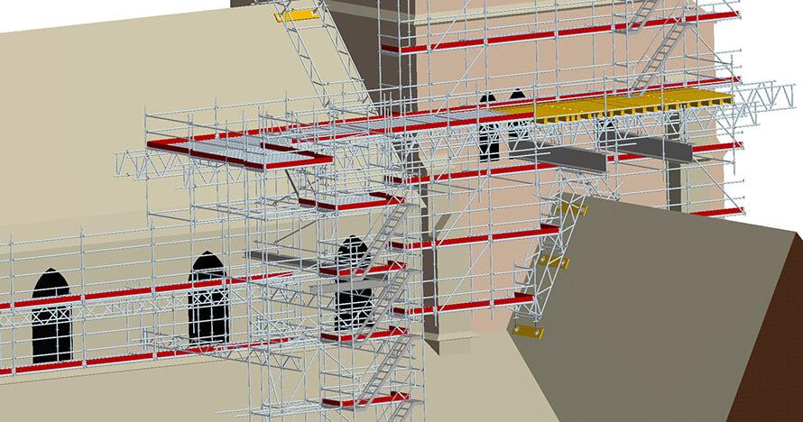 ALFIX Kirchenprojekt Tholey_Lastplattform